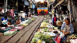 Rom Hoop market or Folding Umbrella Market where vendors and sho